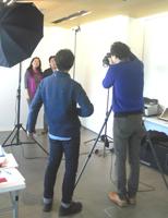 プロカメラマンの撮影によるFQスペシャル撮影会。撮影した画像はプリントしてプレゼントされた。