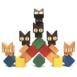 おもちゃのこまーむ ネコブロック 9,450円 東京おもちゃ美術館 ミュージアムショップapty