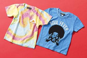 <左>SoulsmaniaKidsTIE DYED T-shirts¥4,104Beans(ビーンズ)<右>SoulsmaniaKidsSOUL FEVER T-shirts¥3,672Beans(ビーンズ)