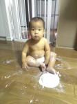 03「1歳のバースデイケーキ!『いただきま~す』の前に…。」