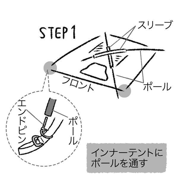テントの設営方法1