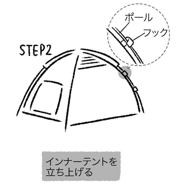テントの設営方法2