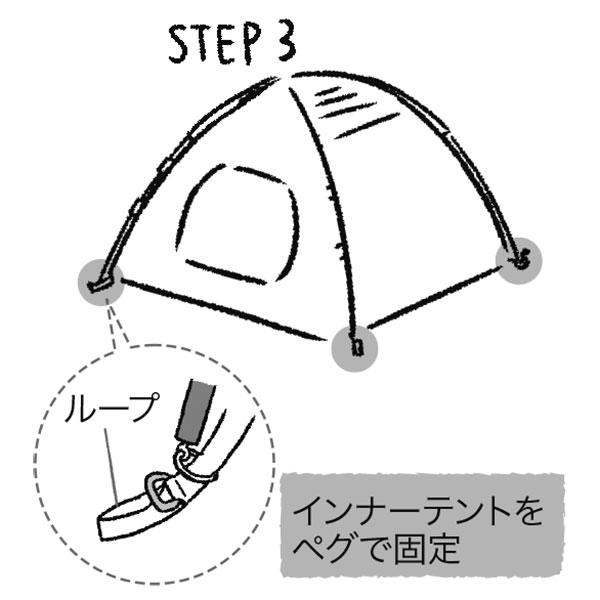 テントの設営方法3